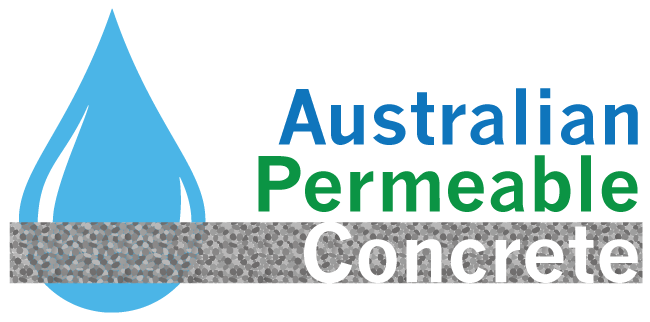 Logo for Australian Permeable Concrete Permeable concrete boutique supplier and installer